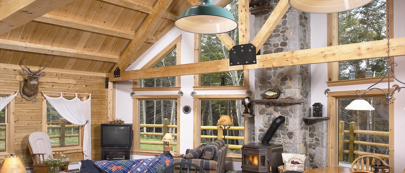 Massachusetts & New Hampshire Log Homes & Log Cabin Packages Kits