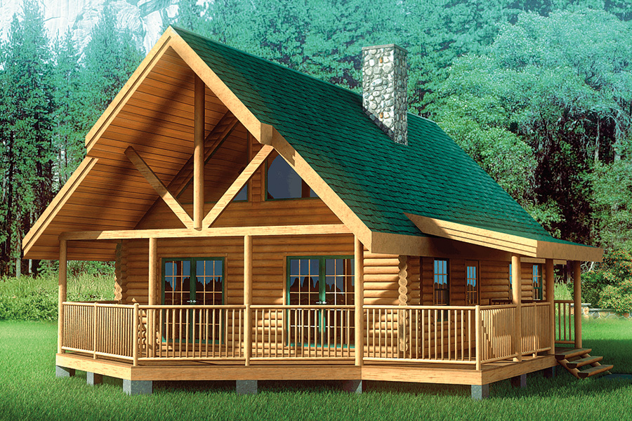 Prefab log homes washington taraba home review for Chalet cabin kits
