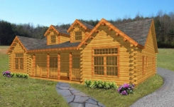 Bigelow log home from nh log cabin homes