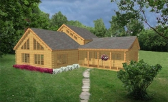 Caribou log home from nh log cabin homes