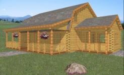 Cedarcrest log home from nh log cabin homes