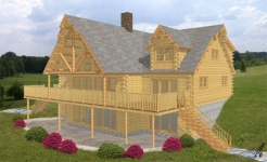 Ripogenus log home from nh log cabin homes