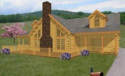 bridgewater log home