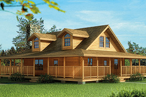 elkmont log home by Hochstetler milling