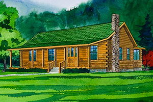 honey creek ii log home from Hochstetler Milling