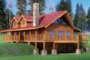 snowmass log home from Hochstetler milling