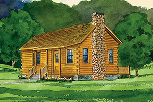 vacationer log cabin from Hochstetler Milling